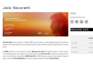 Jack Savoretti - Concerto Music - Sviluppo Web - Anteprima