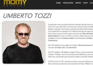 Umberto Tozzi - Momy Records - Sviluppo Web - Anteprima